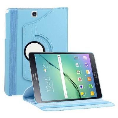 Microsonic Samsung Galaxy Tab S2 8.0'' Kılıf 360 Dönerli Stand Deri Mavi Tablet Kılıfı