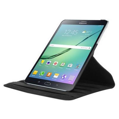 Microsonic Samsung Galaxy Tab S2 8.0'' Kılıf 360 Dönerli Stand Deri Siyah Tablet Kılıfı