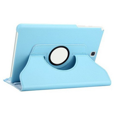 Microsonic Samsung Galaxy Tab S2 9.7'' Kılıf 360 Dönerli Stand Deri Mavi Tablet Kılıfı