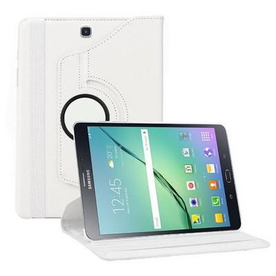 Microsonic Samsung Galaxy Tab S2 9.7'' Kılıf 360 Dönerli Stand Deri Beyaz Tablet Kılıfı