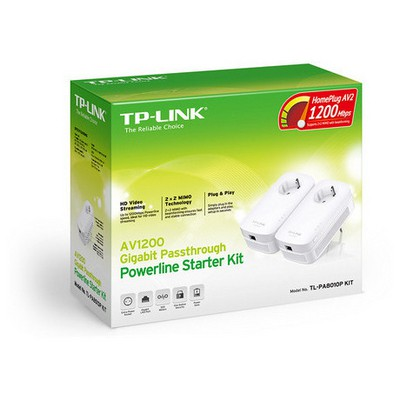 Tp-link TL-PA8010P KIT AV1200 Gigabit Passthrough Powerline