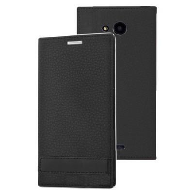 Microsonic Microsoft Lumia 535 Kılıf Gizli Mıknatıslı Delux Siyah Cep Telefonu Kılıfı
