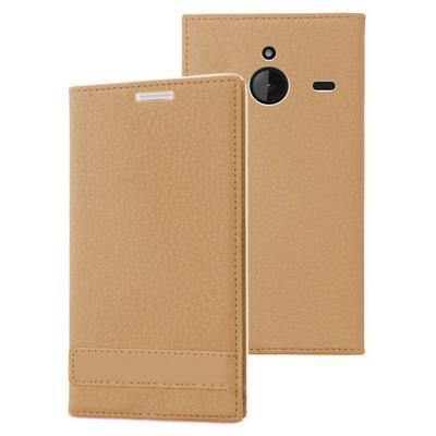 Microsonic Microsoft Lumia 640 Xl Kılıf Gizli Mıknatıslı Delux Gold Cep Telefonu Kılıfı