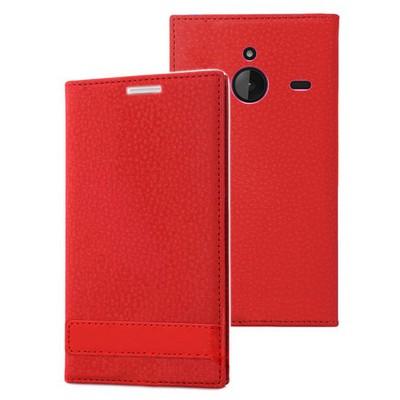 Microsonic Microsoft Lumia 640 Xl Kılıf Gizli Mıknatıslı Delux Kırmızı Cep Telefonu Kılıfı