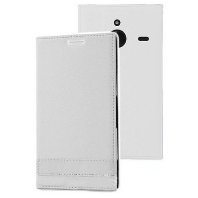 Microsonic Microsoft Lumia 640 Xl Kılıf Gizli Mıknatıslı Delux Beyaz Cep Telefonu Kılıfı