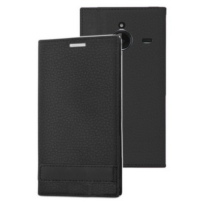 Microsonic Microsoft Lumia 640 Xl Kılıf Gizli Mıknatıslı Delux Siyah Cep Telefonu Kılıfı