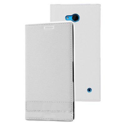 Microsonic Microsoft Lumia 640 Kılıf Gizli Mıknatıslı Delux Beyaz Cep Telefonu Kılıfı