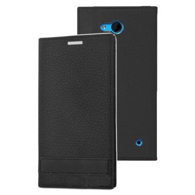 Microsonic Microsoft Lumia 640 Kılıf Gizli Mıknatıslı Delux Siyah Cep Telefonu Kılıfı