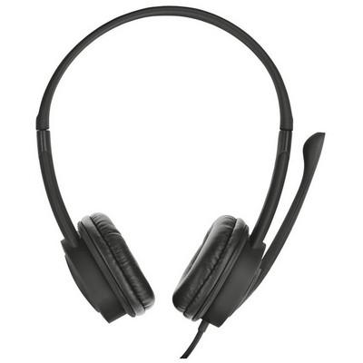 Trust 20685 Mauro Kulaklık Mikrofon Siyah Kafa Bantlı Kulaklık