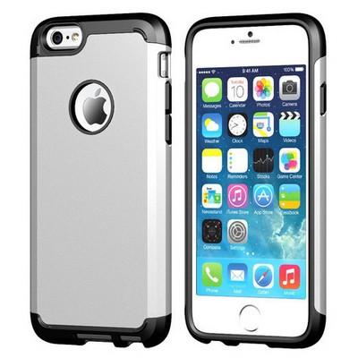 Microsonic Slim Fit Dual Layer Armor Iphone 6s Plus (5.5) Kılıf Gümüş Cep Telefonu Kılıfı