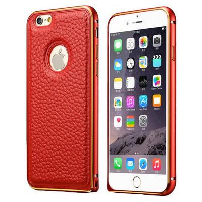 Microsonic Derili Metal Delüx Iphone 6s Plus (5.5'') Kılıf Kırmızı Cep Telefonu Kılıfı