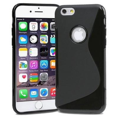 Microsonic Iphone 6s Plus (5.5'') S-line Soft Kılıf Siyah Cep Telefonu Kılıfı