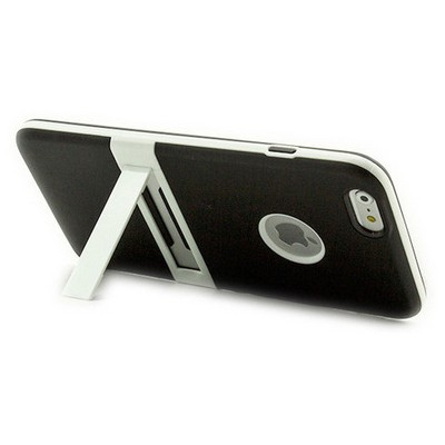 Microsonic Standlı Soft Iphone 6s Plus (5.5'') Kılıf Siyah Cep Telefonu Kılıfı