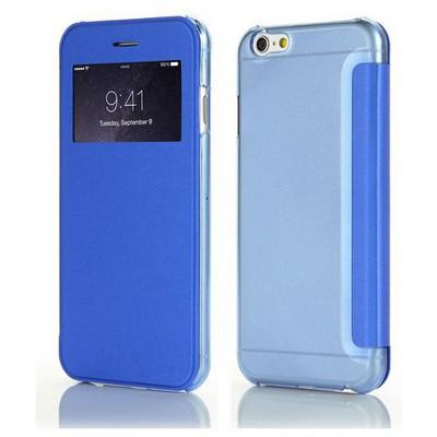 Microsonic View Cover Delux Kapaklı Iphone 6s Plus (5.5'') Kılıf Mavi Cep Telefonu Kılıfı