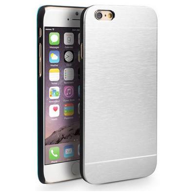 Microsonic Iphone 6s Plus Kılıf Hybrid Metal Gümüş Cep Telefonu Kılıfı