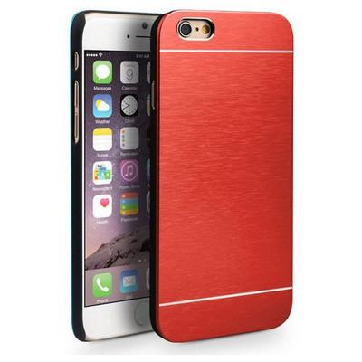 Microsonic Iphone 6s Plus Kılıf Hybrid Metal Kırmızı Cep Telefonu Kılıfı