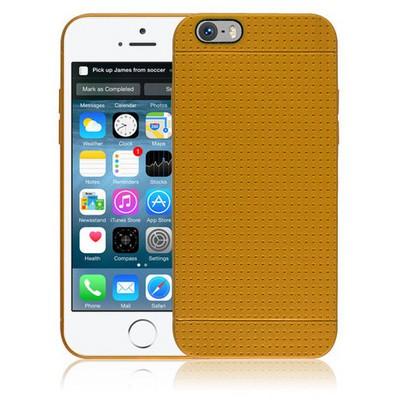 Microsonic Dot Style Silikon Iphone 6s 4.7'' Kılıf Sarı Cep Telefonu Kılıfı