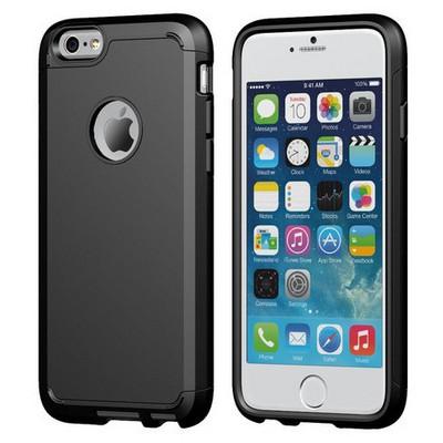 Microsonic Slim Fit Dual Layer Armor Iphone 6s (4.7) Kılıf Siyah Cep Telefonu Kılıfı