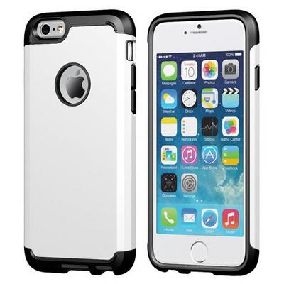 Microsonic Slim Fit Dual Layer Armor Iphone 6s (4.7) Kılıf Beyaz Cep Telefonu Kılıfı