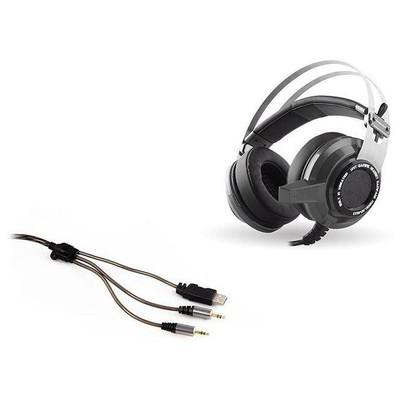 Snopy SN-RW3G Rampage SN-RW3 USB 7.1 Titreşimli Oyuncu Gümüş/Gri Mikrofonlu Kulaklık Kafa Bantlı Kulaklık