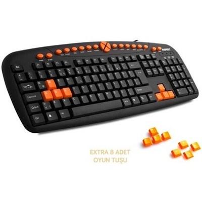 Everest KB-608C Siyah USB OYUN Q MULTİMEDİA KLAVYE Klavye