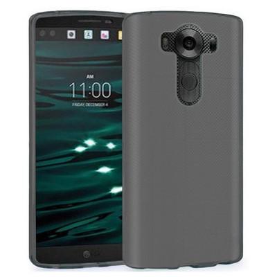 Microsonic Lg V10 Kılıf Transparent Soft Siyah Cep Telefonu Kılıfı