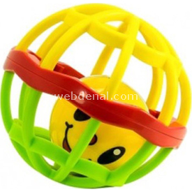 Prego 0081 Rubber Fitness Oyuncak Sarı-yeşil Arabalar ve Toplar