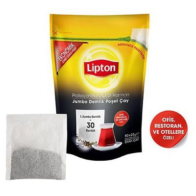 Lipton Profesyonellere Özel Harman Demlik  Jumbo Boy 50 Adet Poşet Çay