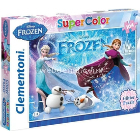 Clementoni 104 Parça Çocuk  Glitter Frozen Puzzle