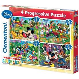Clementoni 4 In 1 Çocuk  Mickey Puzzle