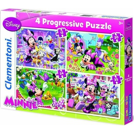 Clementoni 4 In 1 Çocuk  Minnie Mouse Puzzle
