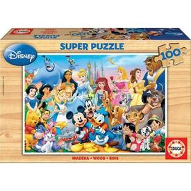 Educa 100 Parça Ahşap  World Of Disney Puzzle