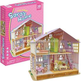 """Cubic Fun Sara""""nın Rüya Oyuncak Evi Puzzle"""