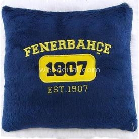 Fenerbahçe Lisanslı 1907 Minik Kare Yastık Lacivert Peluş Oyuncaklar