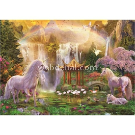 Educa 500 Parça  Unicorn Valley Of The Waterfalls Puzzle