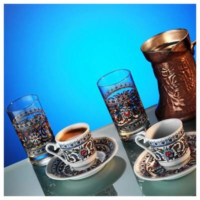 Kütahya Porselen Gözde 6 Parça Kahve Takımı Çay Seti