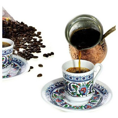 Kütahya Porselen Topkapı 6 Kişilik Fincan Takımı Çay Seti