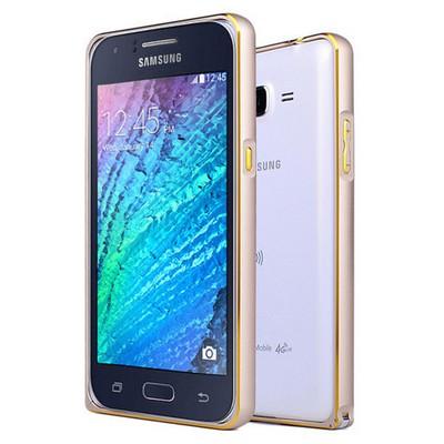 Microsonic Samsung Galaxy J7 Kılıf Thin Metal Çerçeve Gold Cep Telefonu Kılıfı