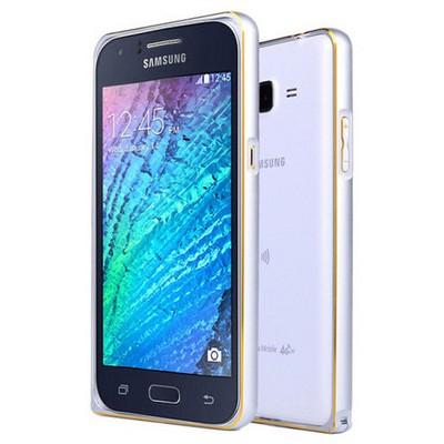 Microsonic Samsung Galaxy J7 Kılıf Thin Metal Çerçeve Gümüş Cep Telefonu Kılıfı