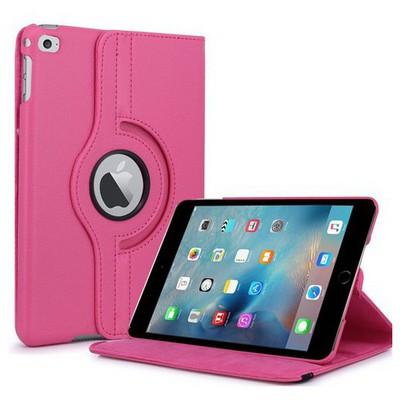 Microsonic Ipad Mini 4 Kılıf 360 Dönerli Stand Deri Pembe Tablet Kılıfı