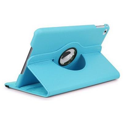 Microsonic Ipad Mini 4 Kılıf 360 Dönerli Stand Deri Mavi Tablet Kılıfı