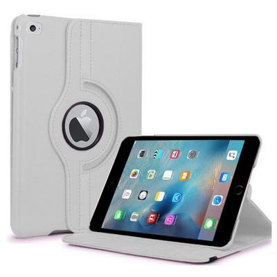 Microsonic Ipad Mini 4 Kılıf 360 Dönerli Stand Deri Beyaz Tablet Kılıfı