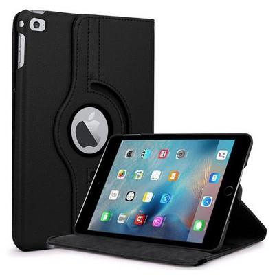 Microsonic Ipad Mini 4 Kılıf 360 Dönerli Stand Deri Siyah Tablet Kılıfı