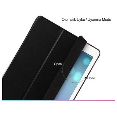 Microsonic Ipad Mini 4 Kılıf Smart Case Ve Arka Koruma Siyah Tablet Kılıfı