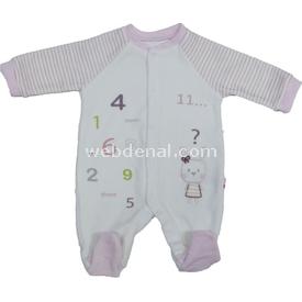 Baby Center 68587 Kadife ı Pembe 0 Ay (50-56 Cm) Kız Bebek Takım