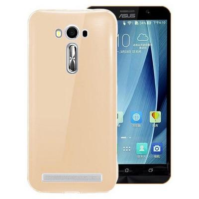 Microsonic Asus Zenfone 2 Laser 5.5'' Kılıf Transparent Soft Gold Cep Telefonu Kılıfı