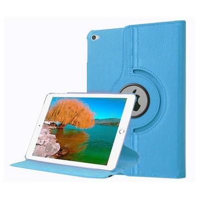 Microsonic Ipad Pro 12.9 Kılıf 360 Dönerli Stand Deri Mavi Tablet Kılıfı