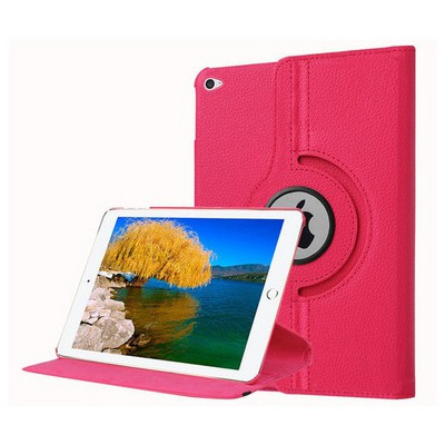 Microsonic Ipad Pro 12.9 Kılıf 360 Dönerli Stand Deri Pembe Tablet Kılıfı