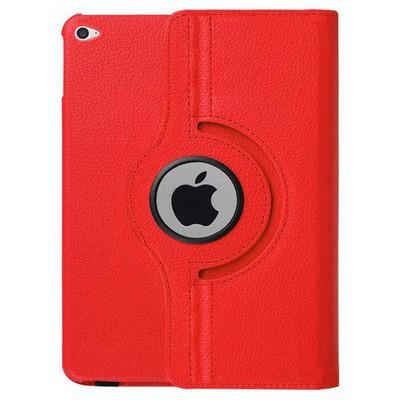 Microsonic Ipad Pro 12.9 Kılıf 360 Dönerli Stand Deri Kırmızı Tablet Kılıfı