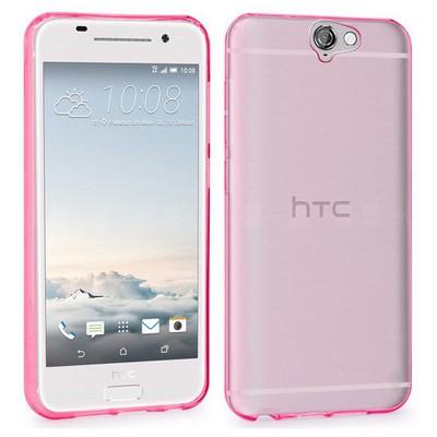 Microsonic Htc One A9 Kılıf Transparent Soft Pembe Cep Telefonu Kılıfı